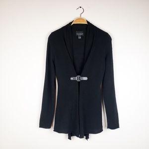 Cynthia Rowley • 100% Cashmere Black Snap Cardigan